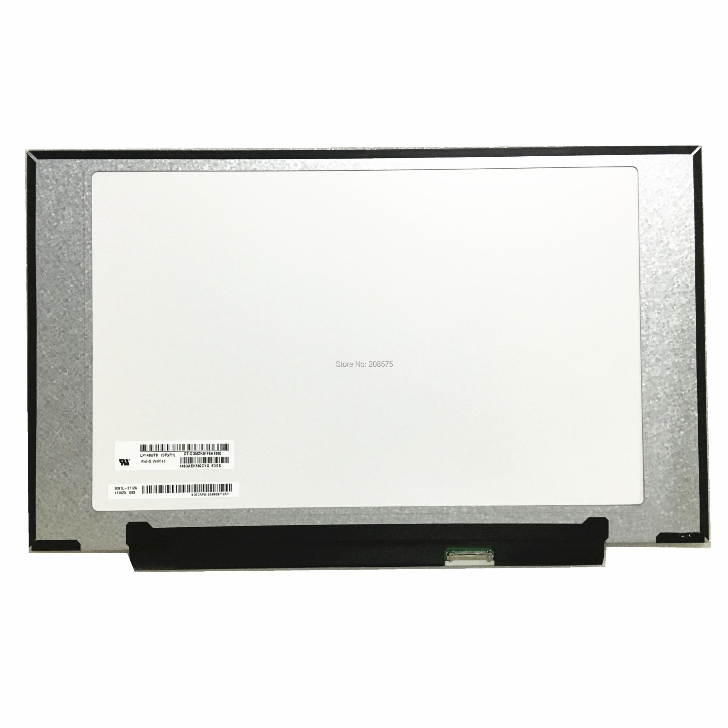 شحن مجاني LP140WF8-SPR1 LP140WF8 SPR1 SPQ1 SPF1 شاشة لاب توب Lcd لوحة IPS 1920*1080 EDP 30 دبابيس
