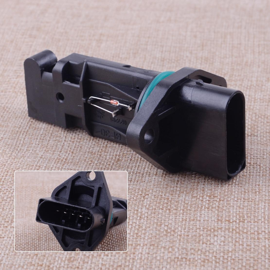 0280217007 negro MAF de masa de flujo de aire Sensor del medidor de Porsche 911 Porsche Boxster 996 986, 2,5, 1997, 1998, 1999, 2000, 2001, 2002, 2003, 2004