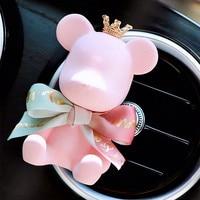 Милый медведь автомобиль темперамент интерьер ароматерапия автомобильного воздуховыпускного отверстия Crown платье-пачка с бантом розовый ...