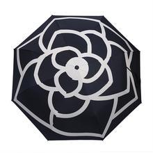 Camélia-parapluie de voyage automatique   Parapluie de haute qualité, automatique, léger, Portable, parapluie pliant, Anti-Uv