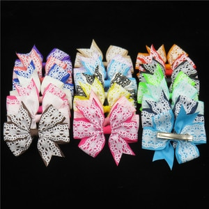 12PCS/LOT Lovely Cobweb Ties Only Bows Elastic Bands For Baby Girls Cute Hairpin Clips Pins Scrunchy Kids Hair Accessories New