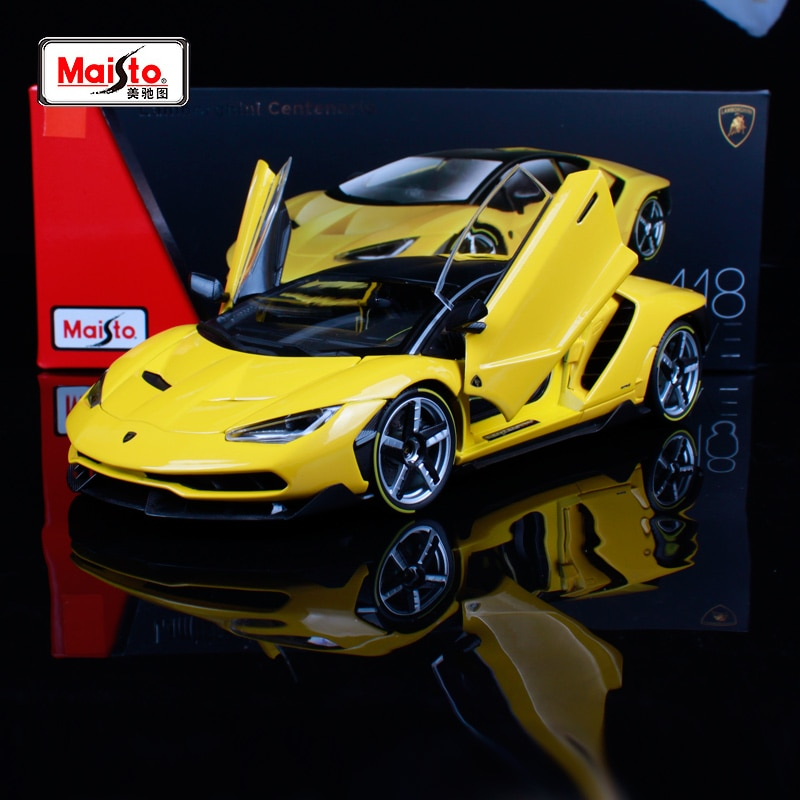 Maisto 1/18 118 escala Lamborghini Centenario LP770-4 coche de carreras Diecast pantalla Metal aleación coleccionable modelo niños juguete