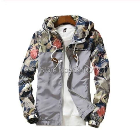 Women's Hooded Jackets 2018 Autumn Causal Flowers Windbreaker Women Basic Jackets Coats Zipper Light