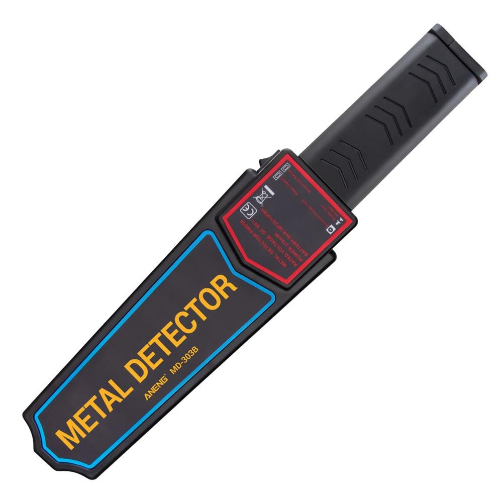 Herramienta de alta sensibilidad portátil de mano escáner ligero Pin puntero sonda electrónica Detector de Metal alarma de vibración de seguridad