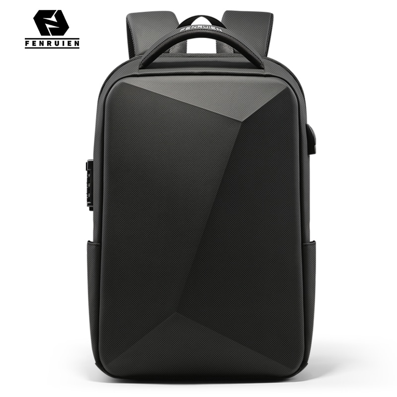 Fenruien Brand Laptop Backpack Anti-theft Waterproof School Backpacks USB Charging Men Business Trav