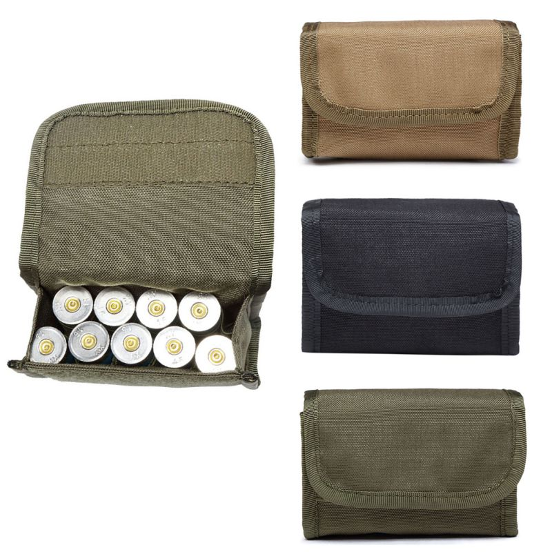 10 round 12gauge 12ga molle pouch tactical shell holder ammo bag military army hunting bandolier cartridges bullet holder bag Hunting Tactical 10 Round Holder Molle Magazine Pouch Ammo Round Cartridge Holder Pouch Accessories