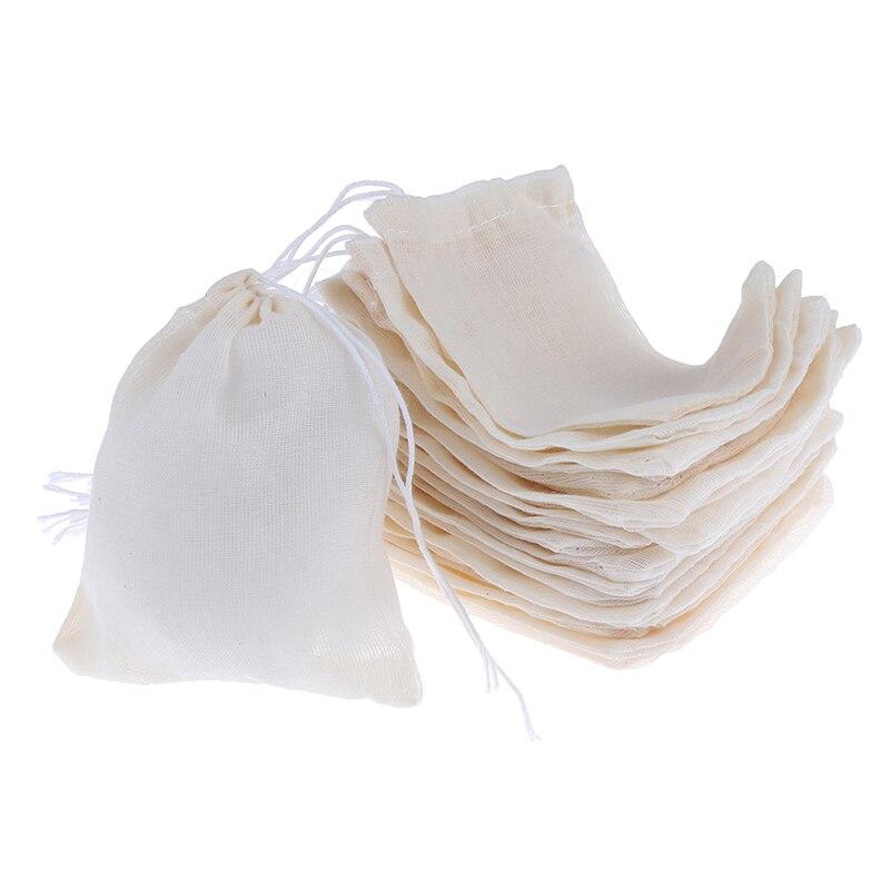 20 piezas bolsas de té vacías con hilo Filtro de té para hierbas té suelto sopa saborizante accesorios de cocina 6X8cm