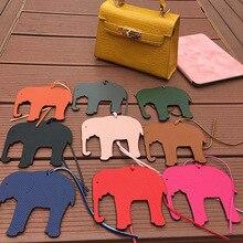 2020 Mode Pu Leer Lucky Olifant Tas Hanger Vrouwen Handtas Accessoires Handgemaakte Sleutelhanger Dames Tas Ornament