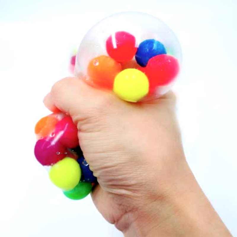 Spongy Banana Bead Stress Ball Toy Squeezable Soft Fruit Shape Sensory Adult Decompression Child Fidgeting Rebound Squeeze Toys enlarge