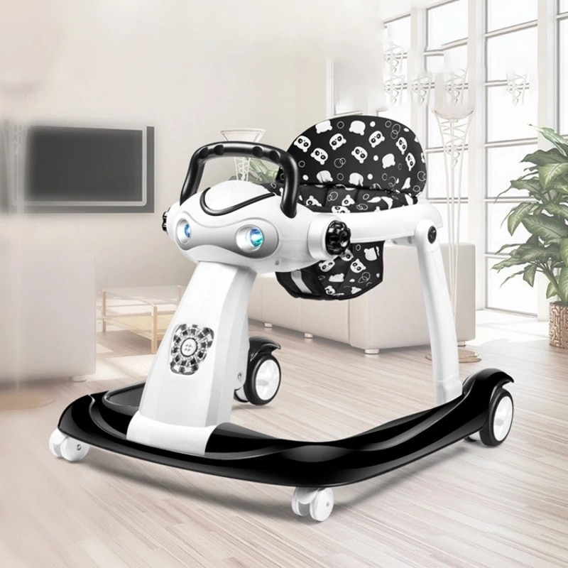 Multi-function Baby Walker Adjustable Heights Learning Walker Push Music Toddler Walk Assistance With Activity Tray