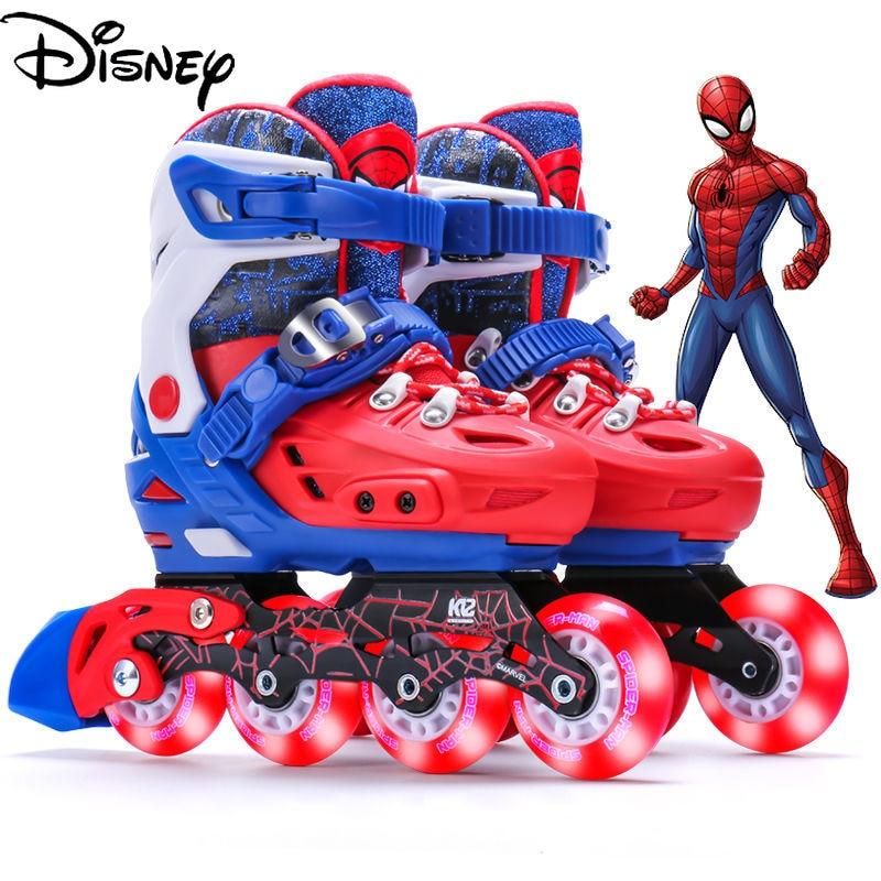 Оригинальные Профессиональные роликовые коньки Disney полный комплект роликовых коньков для детей для начинающих роликовые коньки