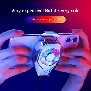 Mobile Phone Cooler ice clip L-01 Phone Heat Sink Cooling Fan With RGB Backlight For iPhone XS MAX/XS/XR/8/7/6 Huawei Samsung