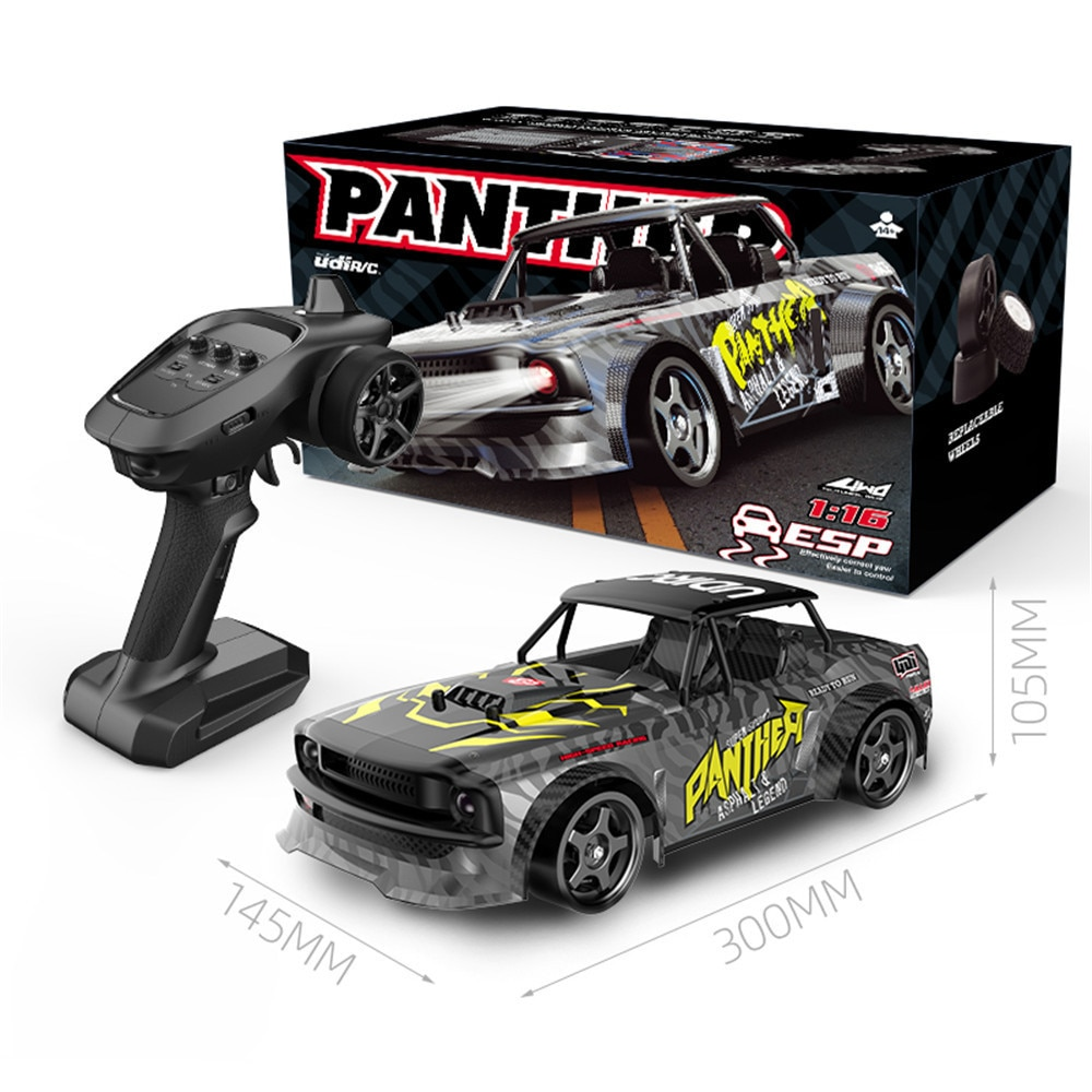 UDIRC 1602 RTR Brushless Several Battery 1/16 2.4G 4WD RC Car LED Light Drift Proportional Off Road Vehicles Model Toy Gift Kid enlarge