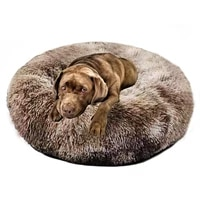autumn winter long plush deep sleep super soft round dog bed house dog bed round nest cat mattress washable dog kennel