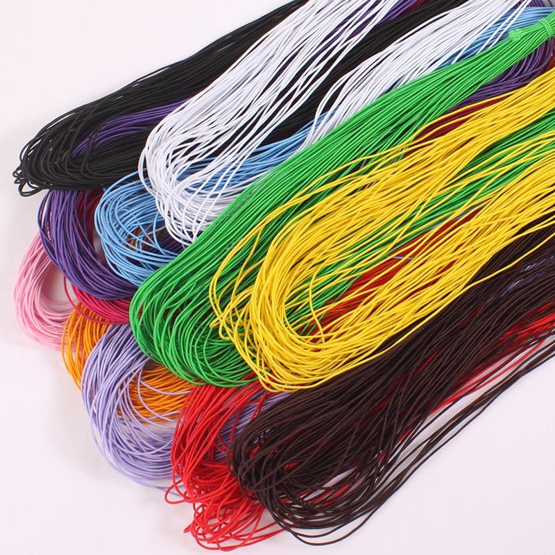 13 yardas, 0,8mm, colorida, elástica, redonda, cuerda de goma, línea de cuerda de cuentas, cordón de cuentas, DIY, fabricación de joyería, pulsera, collar