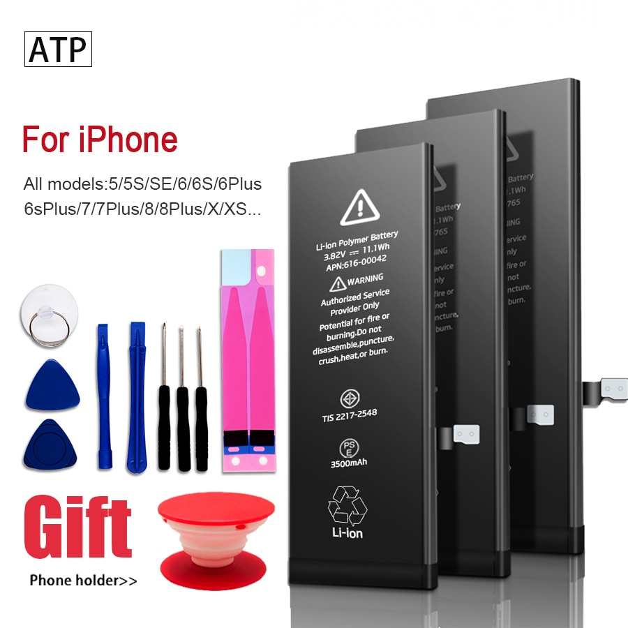 AAAAA 2021 High capacity phone Battery For Apple  5S 5 6S 6 7 8 Plus X SE Xr Xs Max  Replacement Bateria For iPhone 7 batteries pinzheng battery for iphone 6s 6 7 8 plus x replacement high capacity phone battery for iphone 4s 5 5s 5c se xr xs max batterie