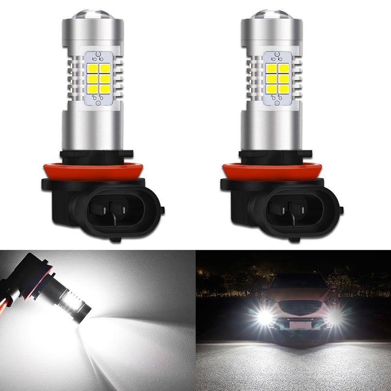 2 uds H8 H11 led H4 HB2 9005, 9006 de 9007 H7 H10 HB5 HB3 bombilla de luces antiniebla 2835SMD 1000LM 6500K blanco coche luces DC12V
