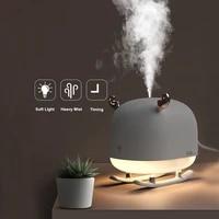 Humidificateur dair USB ultrasonique en forme de cerf avec lampe veilleuse diffuseur dhuile essentielle et darome  brumisateur a lumiere LED de nuit pour la maison et la voiture  260 ml