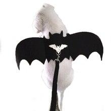 Halloween Duivel Vleugels Kat Kostuums Kleding Puppy Kleine Hond Harnas Leiband Set Kat Vleermuis Vleugels Vampire Fancy Konijn Levert