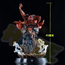 Figurine danime Naruto Kyuubi modèle peint avec lumière LED 45CM