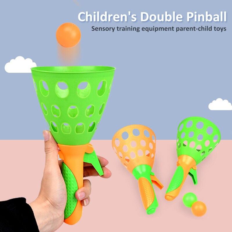 1pc jogos de esportes internos, brinquedos, crianças, jogando a bola, conjunto de pegar o pai-filho, interativo, bola de brinquedo, mini bola de ejeção