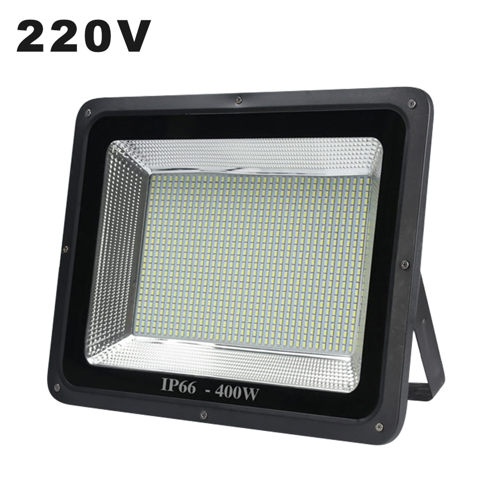 Projector de led 220 v projeto-lâmpada de luz 10 w 30 w 50 w 200 w 300 w 400 w luz de inundação ao ar livre à prova dwaterproof água ip65 ip66 holofote