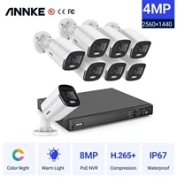 annke 4mp fhd video surveillance camera system 4k nvr recorder with 4mp full color night vision security cameras ip cameras kit