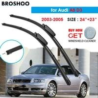 car wiper blade for audi a8 d3 2423 2003 2005 auto windscreen windshield wipers blades window wash fit slider arm