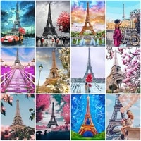 diy tower 5d diamond painting full squareround drill landscape diamond embroidery cross stitch resin home decor wall art gift