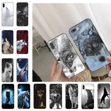 Heftigen Schnee Wolf Telefon Fall Für iPhone 11 8 7 6 6S Plus 7 plus 8 plus X XS MAX 5 5S XR 12 11 Pro max se 2020 Funda Abdeckung