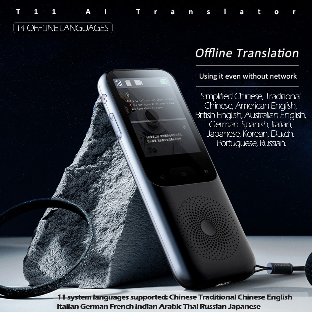 2021 offline online WiFi portable T11 intelligent voice translation pen 138 multi-language students learn Spanish efficiently enlarge