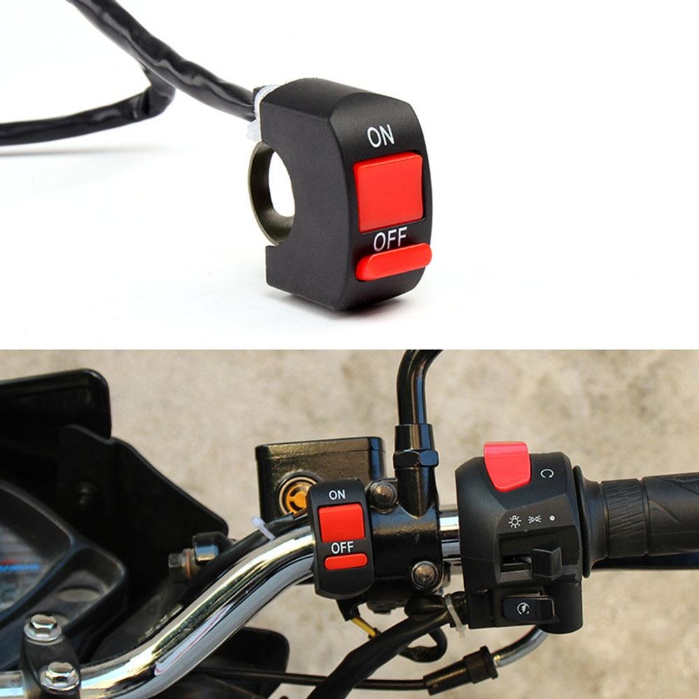 22mm manillar Universal de la motocicleta Botón de apagado del interruptor de apagado para Honda XR250 XR400 XR125 xr 250 400 Kawasaki VERSYS 650