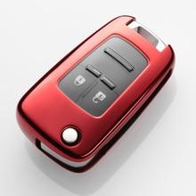 Coque porte-clé en TPU pour Chevrolet   Coque pour Cruze Aveo Trax Opel Astra Corsa Meriva Zafira Antara J Mokka Insignia, porte-clés