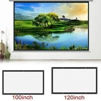 120 pouces Ecrans De Projection 3D HD Fixe Au Mur Ecran De Projection Toile 16 9 PROJECTEUR LED Cadre Decran Pour Cinema maison