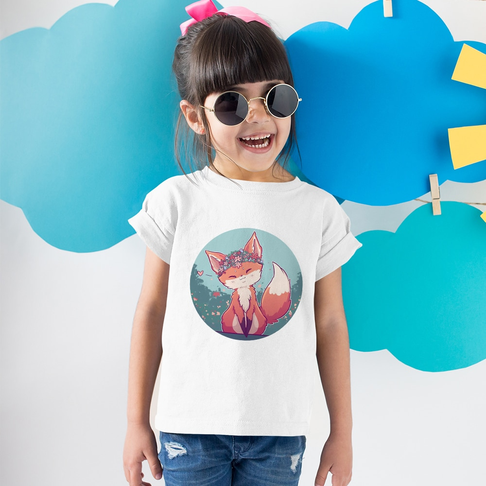 AliExpress - High Quality Printed Tshirt Cute Girls Cartoon Fox Tees Summer Cozy Teens Clothing Oversized Outdoor Casual Play Kids T-shirts