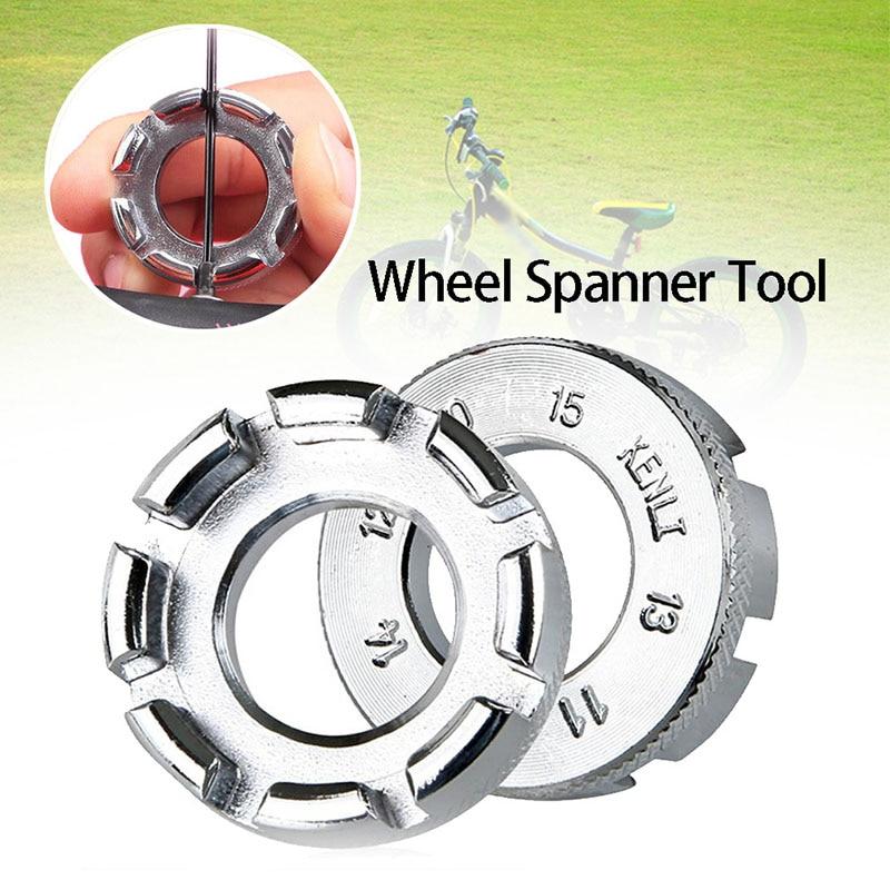 Llave de pezón portátil Durable para radios de bicicleta llave de 8 vías para ajuste de llanta de bicicleta herramienta de servicio de reparación galvanizada