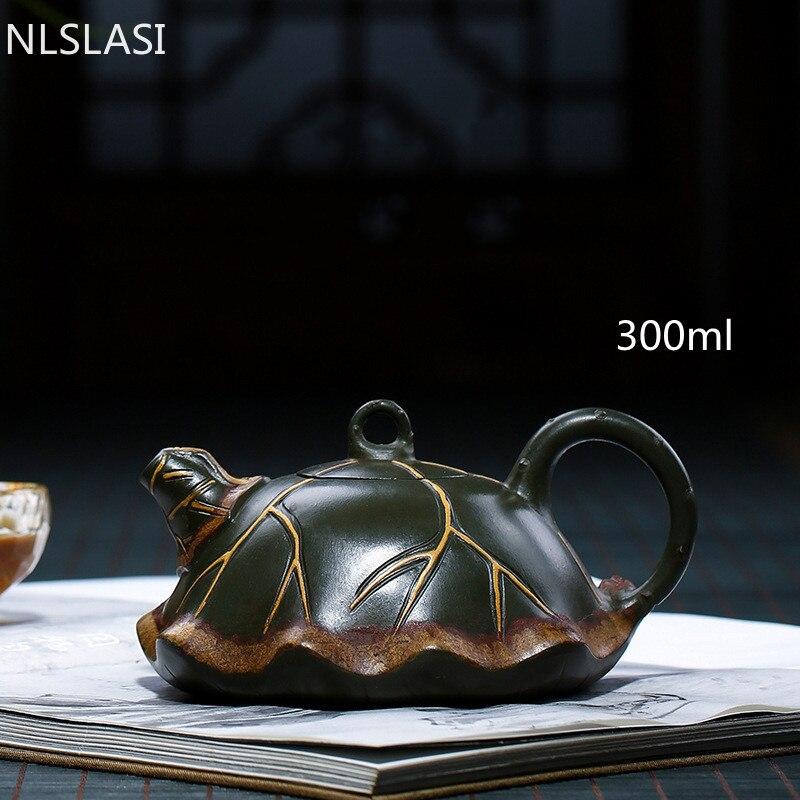 300 مللي الصين الأرجواني الطين النقي اليدوية MiniTea وعاء ييشينغ Zisha السيراميك الكونغ فو طقم شاي درينكوير حفل الشاي