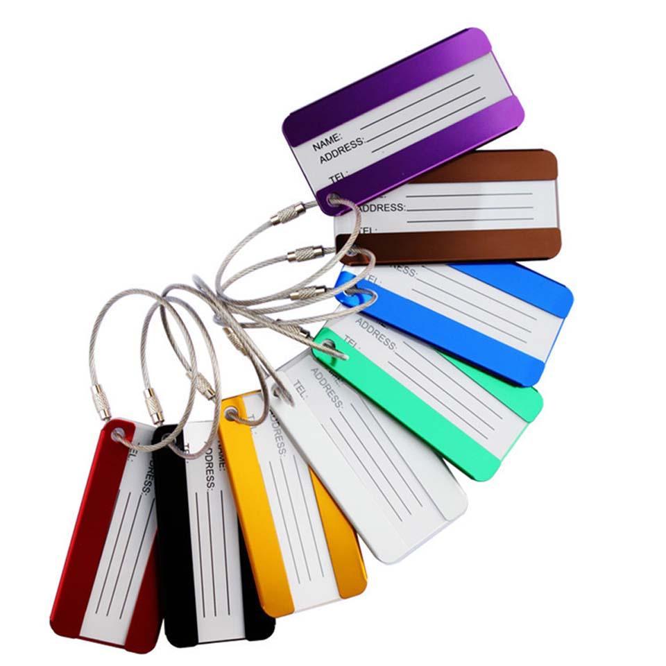 1 шт. металлический брелок багажные бирки алюминиевый брелок из сплава для путешествий багаж идентификатор чемодан бирки на сумку аксессуа...