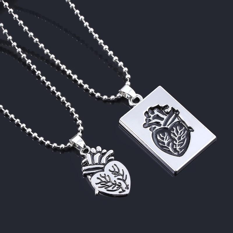 Модное ювелирное изделие, Анатомическое Сердце, пара ожерелья, цепь из нержавеющей стали, ожерелье для влюбленных, ювелирные изделия на День святого Валентина Ожерелья с подвеской      АлиЭкспресс