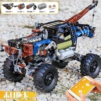 mould king 18006 new car model the app motorized rc rebel tow truck building blocks bricks assembly kids christmas toys gift