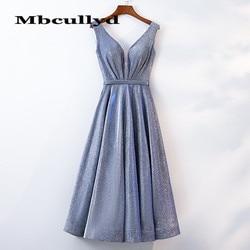 Mbcullyd incrível lantejoulas vestidos de baile 2020 sexy com decote em v curto coquetel vestidos para meninas vestidos formais de noche