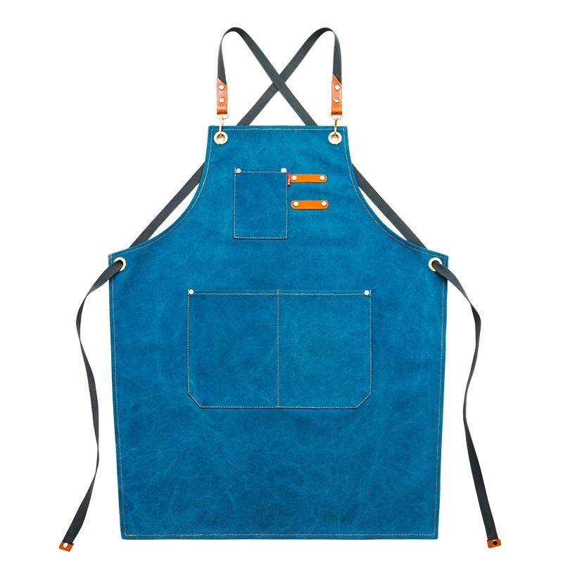 Waterproof Unisex Adjustable Bib Denim Apron for Family Chef Kitchen BBQ and Studio Cooking Apron for Kitchen and Home enlarge