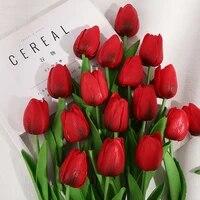 Mini tulipe artificielle en Pu  fausses fleurs  pour un mariage  pour decorer la maison