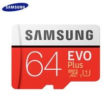 SAMSUNG-carte mémoire Micro SD EVO PLUS + 128 go/256 go/100 go, classe 10, UHS-I mo/s, TF, carte mémoire originale, vitesse de lecture maximale