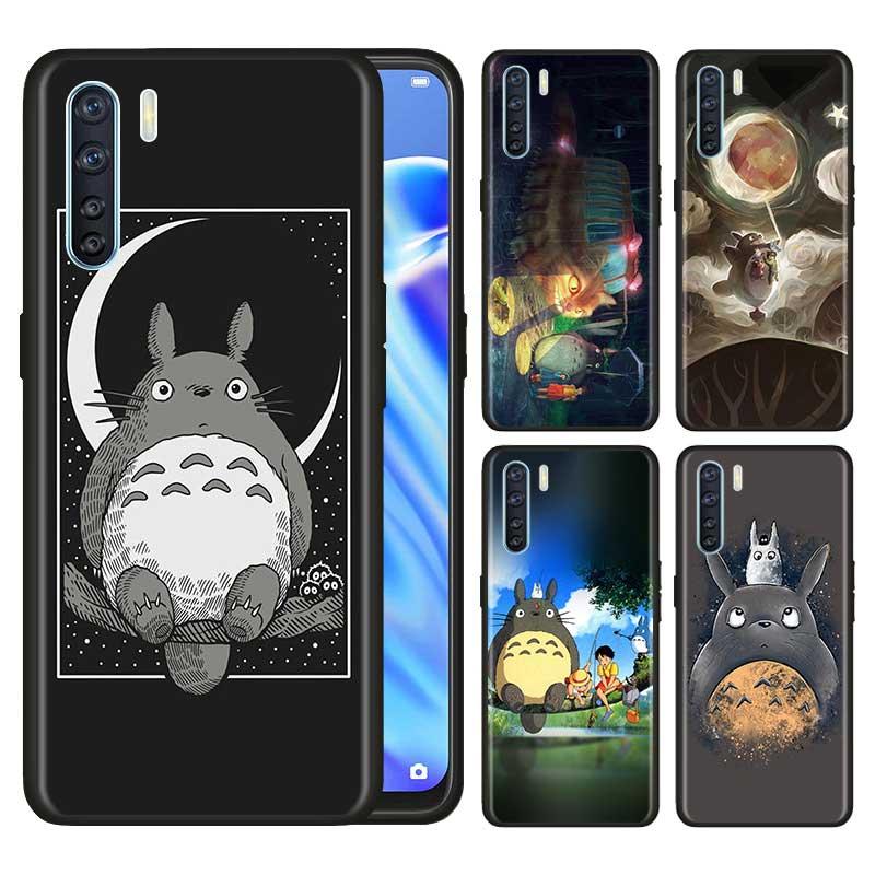 Para Oppo A5 A9 2020 A31 F15 Reno3 juventud Pro encontrar X2 Pro Lite Neo A52 A72 A92 A92S ACE2 de Totoro Ghibli Miyazaki