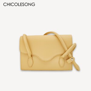 Designer Handle Women Female Ladies 2021 New Summer Brand PU Soft Accordion Khaki Apricot Light Yellow Baguette Shoulder Bags