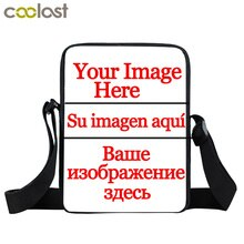 Personnalisé votre Image nom Logo Mini sac de messager garçons filles personnalisé sac à bandoulière enfants dessin animé sacs à bandoulière meilleurs sacs-cadeaux