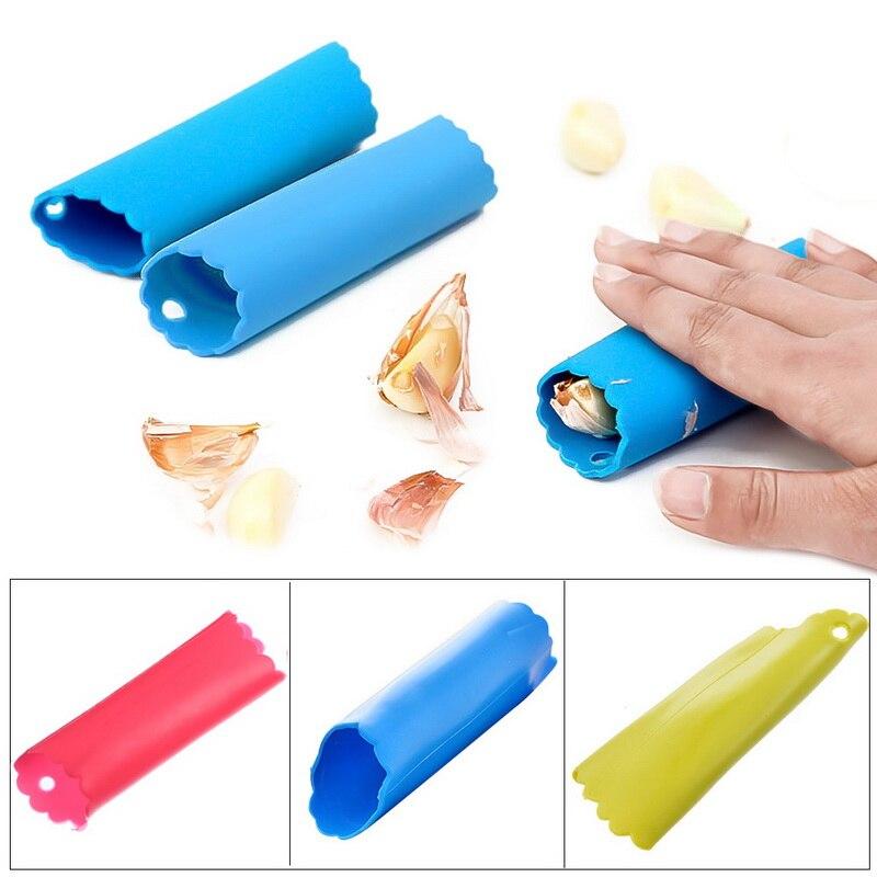 Magia Silicone Alho Peeler Peel Fácil Ferramenta Da Cozinha Cor Aleatória Transporte da gota Ferramenta Hot Sales Triturador Não Machucar a Mão