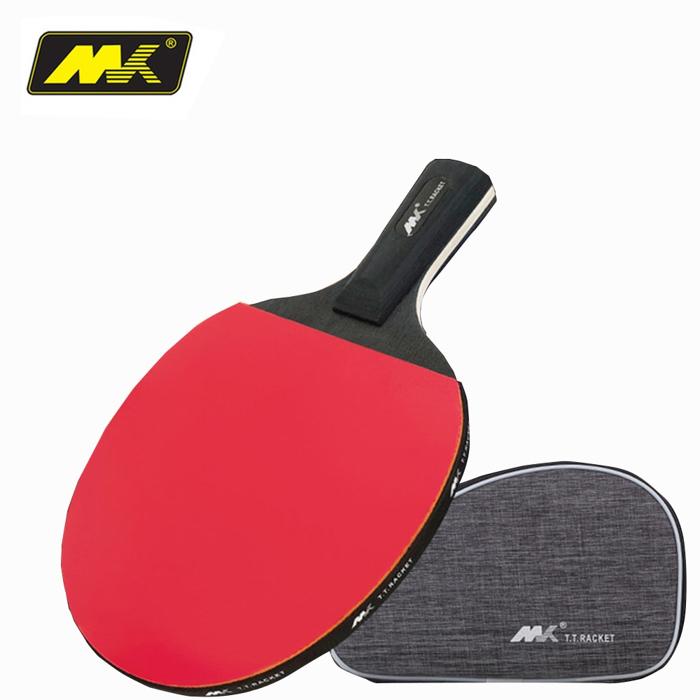 Raqueta de tenis de mesa doble cara espinillas-en raqueta de goma para mesas de tenis Bat con bolsa superior Paquete de regalo recomendado