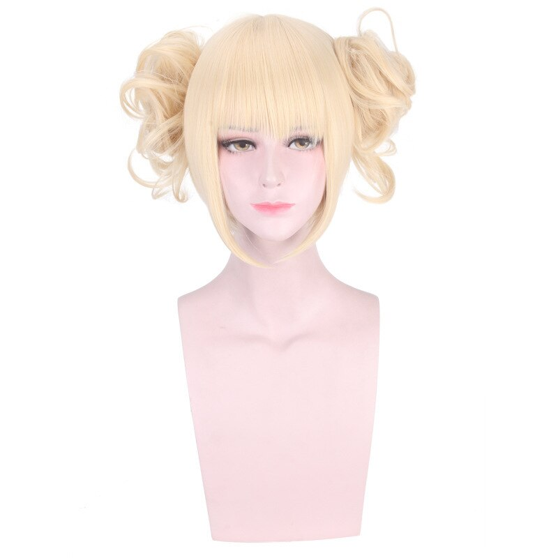 Peluca Boku no My Hero Academia himiko Toga Cosplay para mujeres, accesorios de disfraces, pelo sintético para fiesta de Halloween